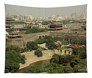 Xi'an City Wall With Skyline Tapestry