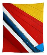 Xochimilco Boat Abstract 1 Tapestry