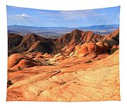 Yant Flat Candy Cliffs Panorama Tapestry