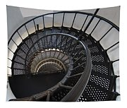 Yaquina Lighthouse Stairway Nautilus - Oregon State Coast Tapestry