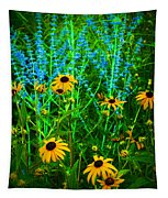 Yellow And Blue Tapestry