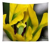 Yellow And Green Tulip Tapestry