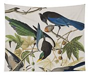 Yellow-billed Magpie Stellers Jay Ultramarine Jay Clark's Crow Tapestry