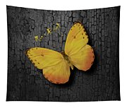 Yellow Butterfly Tapestry