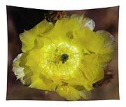 Yellow Cactus Flower Tapestry