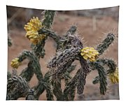 Yellow Cactus Tapestry