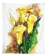 Yellow Callas Tapestry