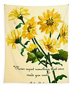 Yellow Daisies .. Poem Tapestry