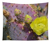 Yellow Desert Bloom Tapestry