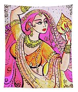 Yellow Devi Tapestry