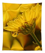 Yellow Drip Tapestry