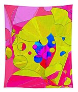 Yellow Flower In Pink Field 008 Tapestry