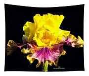 Yellow Flower On Black Tapestry