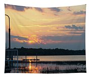 Yellow Gold Sunset Tapestry Tapestry