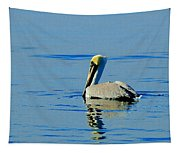 Yellow Headed Pelican Tapestry