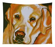 Yellow Lab Amazing Grace Tapestry