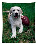 Yellow Labrador Retriever Puppy Tapestry