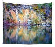 Yellow Lake Abstract Tapestry