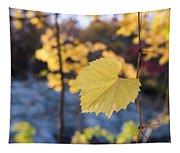 Yellow Leaf Newton Upper Falls Fall Foliage Tapestry