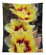 Yellow Long- Spined Prickly Pear Cactus  Tapestry