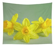 Yellow Mini Narcissus On Green 2 Tapestry