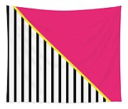 Yellow Pink And Black Geometric 2 Tapestry