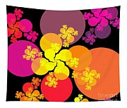 Yellow Pink Red Orbs Tapestry