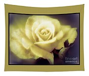Yellow Rose Smoky Misty Look Tapestry