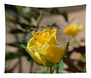 Yellow Rose With Ants Tapestry