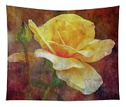 Yellow Rose With Raindrops 3590 Idp_2 Tapestry