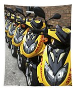 Yellow Scooters Tapestry