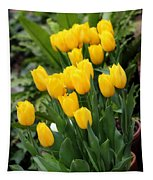 Yellow Spring Tulips Tapestry