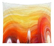 Yellow Sunlight Abstract Art Tapestry