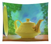 Yellow Teapot And Bowl Tapestry