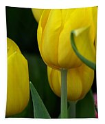 Yellow Tulips Tapestry