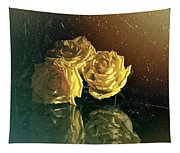 Yellow Vintage Roses  Tapestry