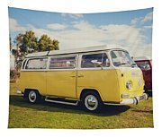 Yellow Vw T2 Camper Van 02 Tapestry
