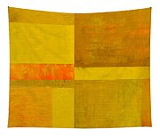 Yellow With Orange Tapestry