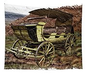Yellowstone Park Stage Coach With Horses Pa 01 Tapestry