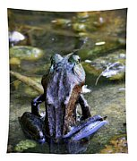 Yoga Frog  Tapestry