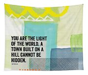 You Are The Light- Contemporary Christian Art By Linda Woods Tapestry