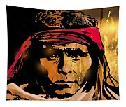 Young Apache Brave Tapestry