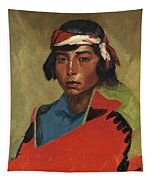 Young Buck Of The Tesuque Pueblo Tapestry