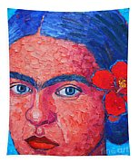 Young Frida Kahlo Tapestry
