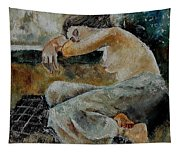Young Girl  679050 Tapestry