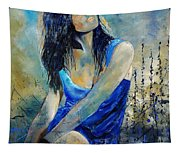 Young Girl In Blue Tapestry