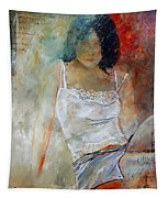 Young Girl Sitting Tapestry