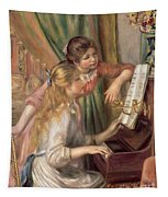 Young Girls At The Piano Tapestry