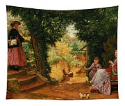 Young Lady Bountiful Tapestry