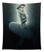 Young Lunar Pierrette Tapestry